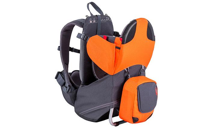 Phil&teds Parade Lightweight Backpack Carrier, Orange/Grey