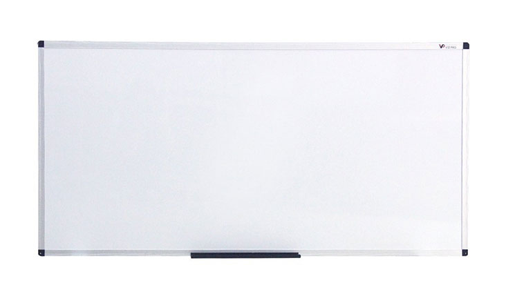 VIZ-PRO Magnetic Dry Erase Board, 48 X 24 Inches, Silver Aluminium Frame