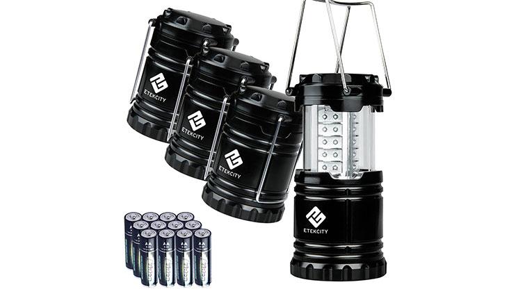 Etekcity 4 Pack Portable Outdoor LED Camping Lantern