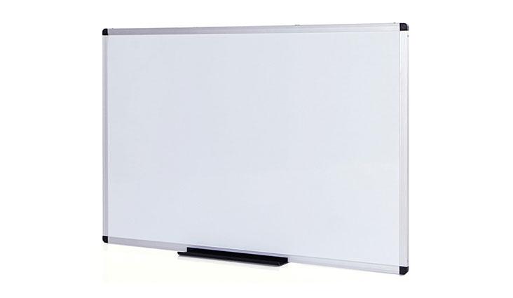 Viz-Pro Dry Erase Board, Melamine 48 x 36 Inches, Silver, Aluminium Frame WB4836M