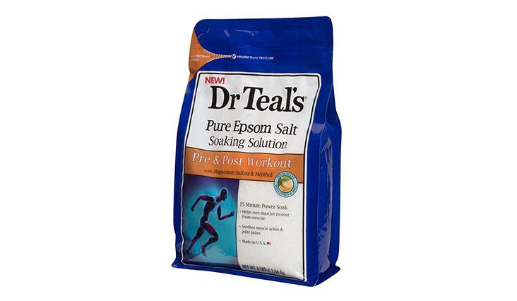Dr Teals Pure Epsom Salt Soaking Solutions, Pre & Post Workout, 3 Pound Bag