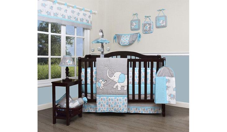 GEENNY Boutique Baby 13 Piece Nursery Crib Bedding Set