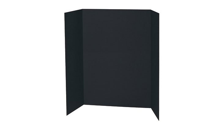 BLACK PRESENTATION BOARD 48X36