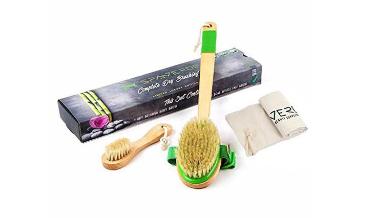SpaVerde Natural Boar Bristle Body Brush