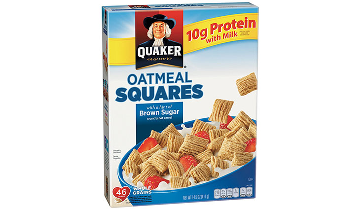 Quaker Oatmeal Squares, Brown Sugar, Breakfast Cereal