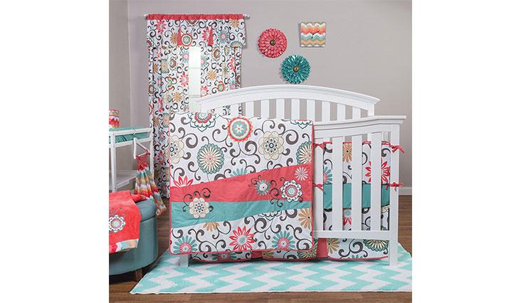 Rend Lab Waverly Pom Pom Play 4 Piece Crib Bedding Set