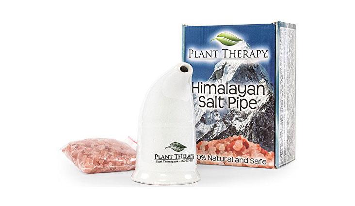 Refillable Pink Himalayan Salt Inhaler
