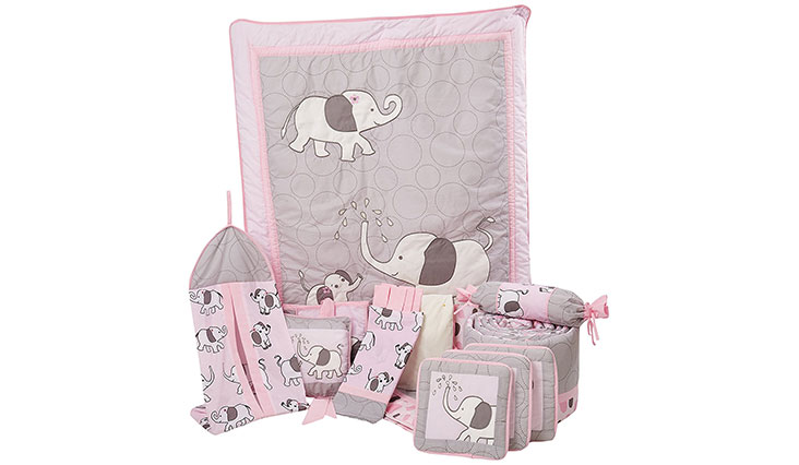 Boutique Pink Gray Elephant