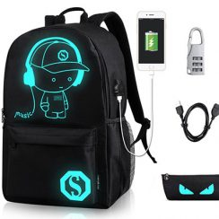 GAOAG Anime Luminous Backpack Daypack Shoulder School Bag Laptop Bag