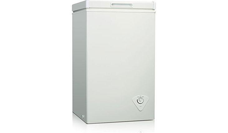 Midea WHS-79C1 Single Door Chest Freezer, 2.1 Cubic Feet, White