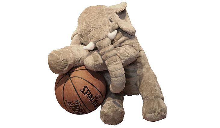 Romanstii Plush Baby Soft Elephant Sleep Pillow Large Animal Doll Kids Toys 23.5 Inch (Gray)