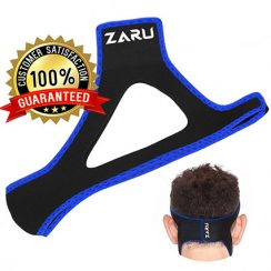 PREMIUM Anti Snore Chin Strap by ZARU (New Version - Fits Most) - Advanced Snoring Solution Scientifically Designed To Stop Snoring Naturally and Give You The Best Sleep of Your Life