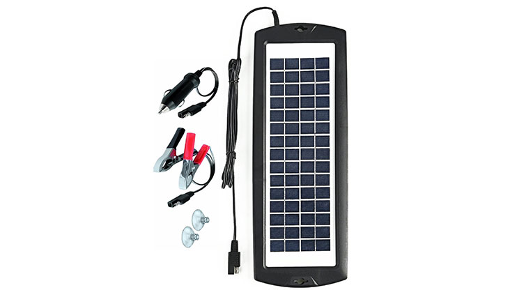 Sunway Solar Car Battery Charger 12V Battery Trickle Charger Maintainer Solar Panel Power Charger Portable Backup For RV Motorcycle Boat Marine Trailer Tractor Powersports Tractor ATVs Snowmobile