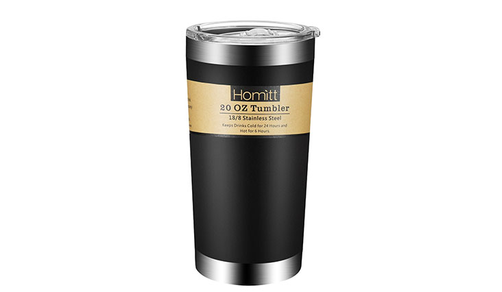 The sleek and formal design that comes with this hot coffee tumbler