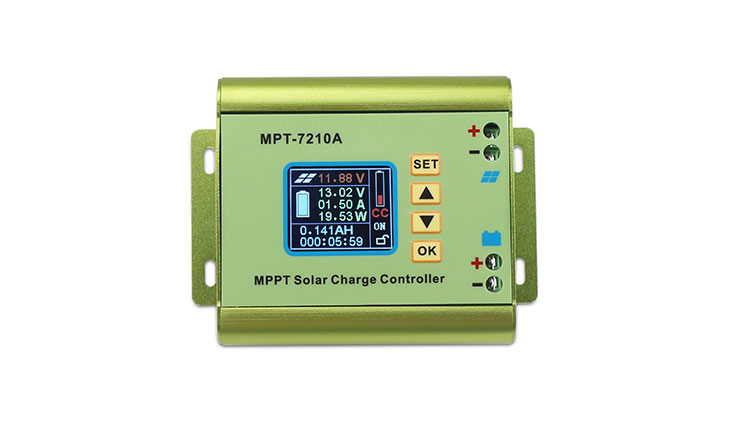 DROK MPPT Solar Panel Battery Charge Controller Color LCD Digital Display Boost Voltage Converter Regulator DC 12-60V Step Up to DC 15-90V for 24V/36V/48V/60V/72V 0-10A Battery Pack Charging