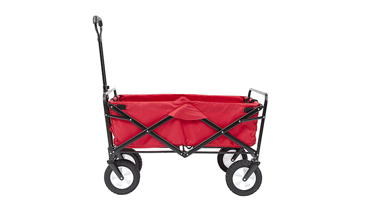 Mac Sports Collapsible Folding Outdoor Utility Wagon, Red