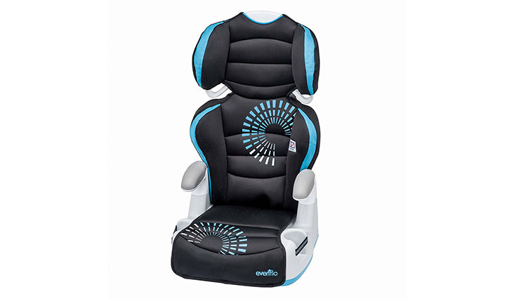 Evenflo Big Kid AMP Booster Car Seat, Sprocket