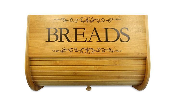 Cookbook People Classic Filigree Wood Bread Bin