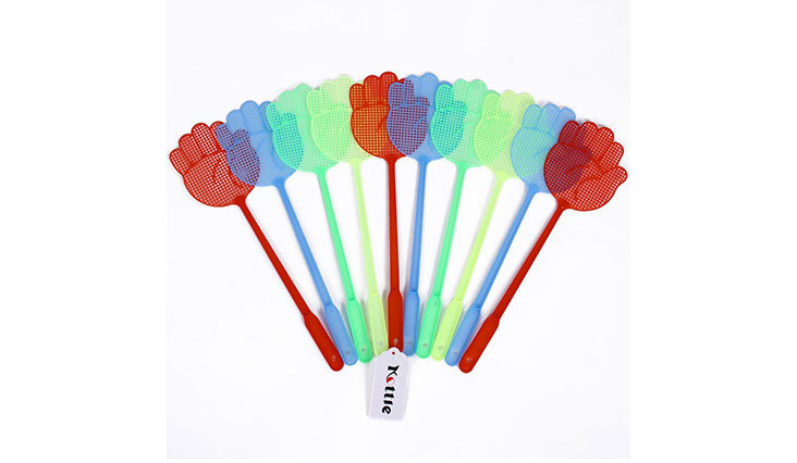 Kottle Fly Swatter Pest Control, Manual Swat, Plastic Fly Swatters, Multi-colors, 10 Pack (Color Random)