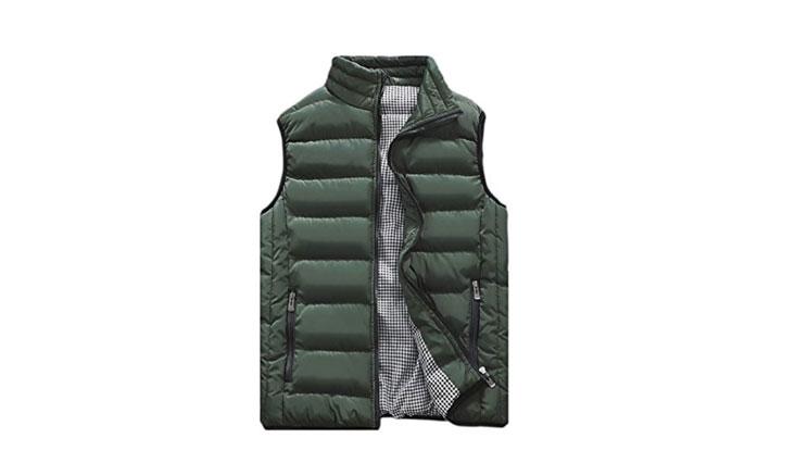 Vcansion Men's Lightweight Casual Vest Down Jacket Coat Vest