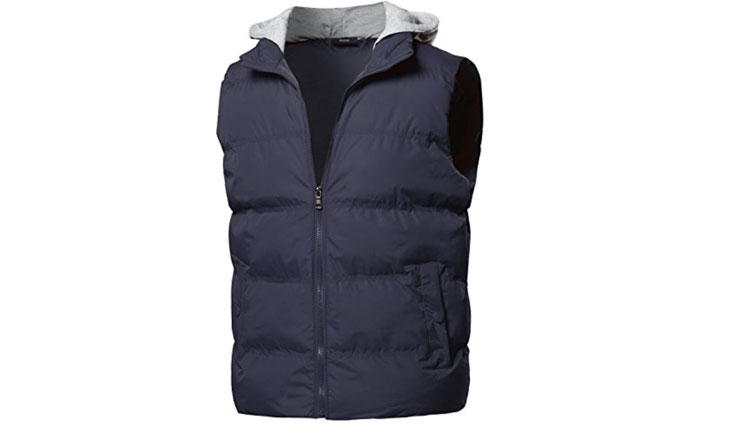 Youstar Men's Zip-Up Closure Puffy Quilted Outdoor Vest Jacket