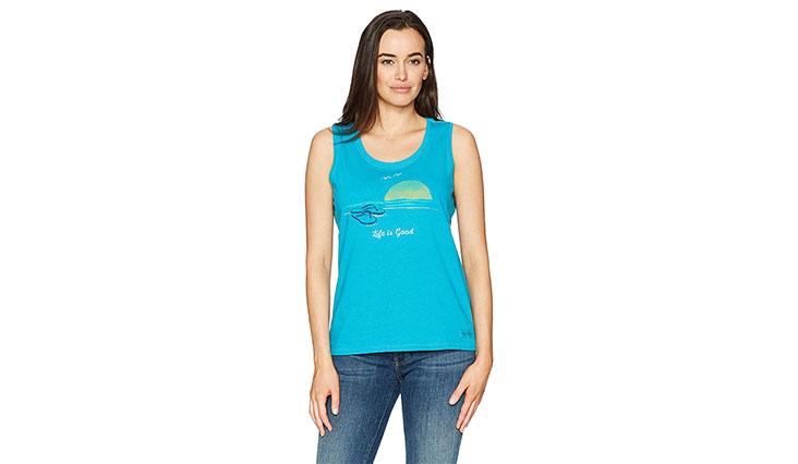 Life is good Women's Sl Crusher Sco Flip Flop Sunset Clturq Shirt