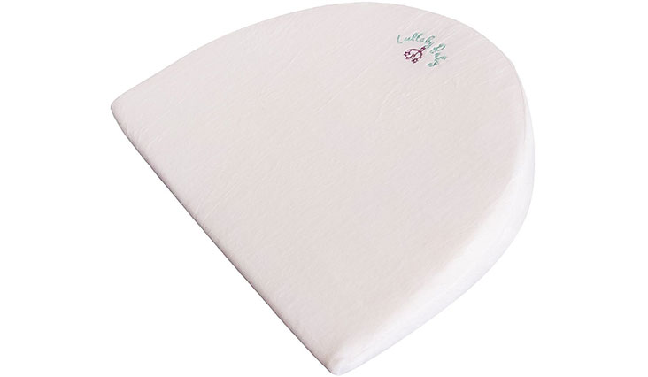 Lullaby Baby Infant Newborn Designed For Halo Bassinet Pregnancy Wedge Pillow Waterproof Large Size Memory Foam Foldable 12 Degree Incline Sleeper Acid Reflux For Large Bassinets