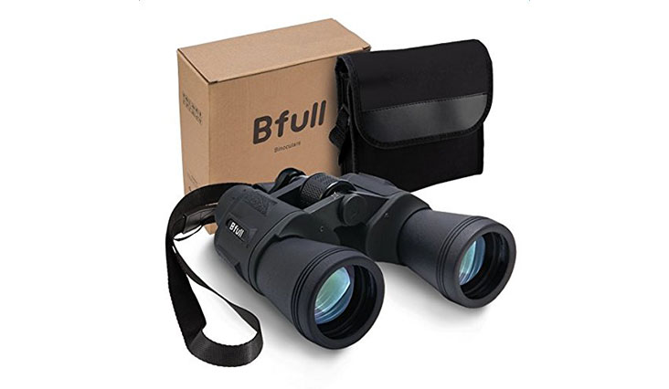 12 x 50 Binoculars For Adults kids, Bfull Compact Binocular Folding Durable Binoculars stargazing for Bird Watching children Sporting Game (Black) +Carrying case+Strap