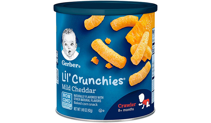 Gerber Graduates Lil' Crunchies, Mild Cheddar, 1.48-Ounce Canisters (Pack of 6)