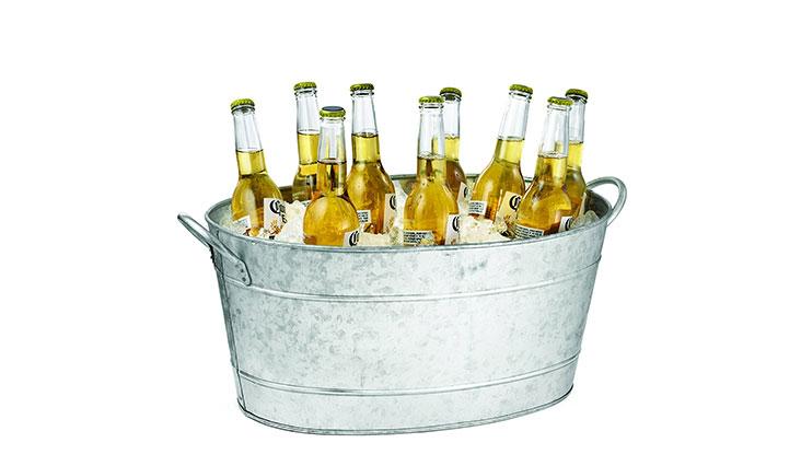 TableCraft Galvanized Beverage Tub, 5.5 Gallon