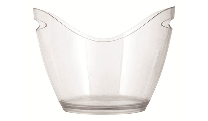 Chill 4 Bottle Swiss Modern Transparent Ice Bucket with handles by True