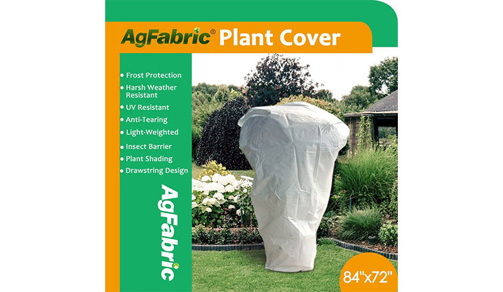 """Agfabric Warm Worth Frost Blanket - 0.95 oz Fabric of 84""""x 72"""" Shrub Jacket, Rectangle Plant Cover for Frost Protection"""