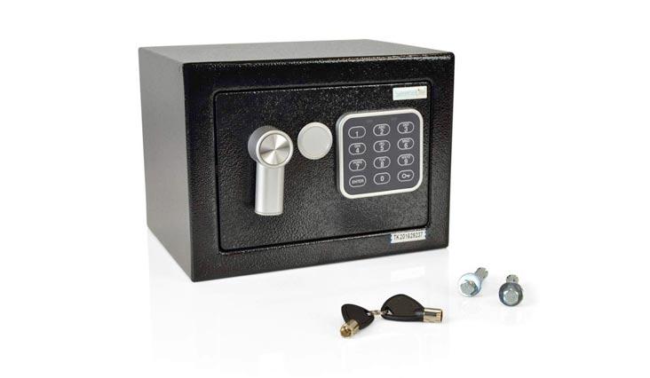Fireproof Lock Box, Fireproof Box, Safe, Safes, Safe Box, Safes And Lock Boxes, Money Box, Fire Proof Safety Boxes for Home, Digital Safe Box, Steel Alloy Drop Safe, Includes Keys