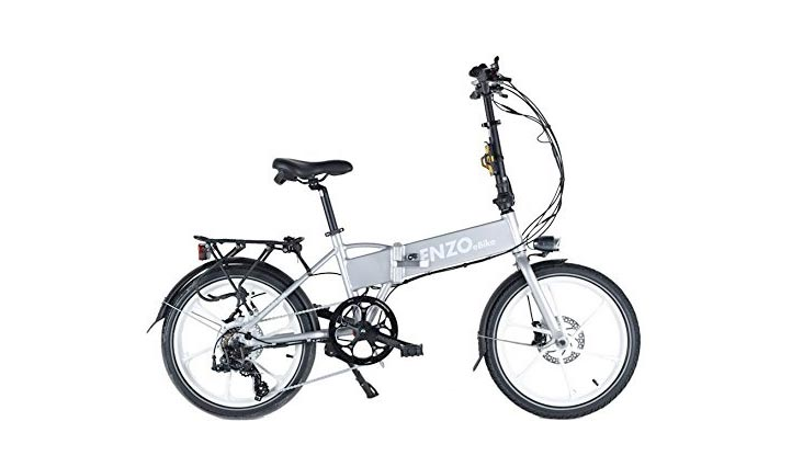Enzo eBikes Electric Folding Aluminum Bicycle with Lithium-Ion Battery