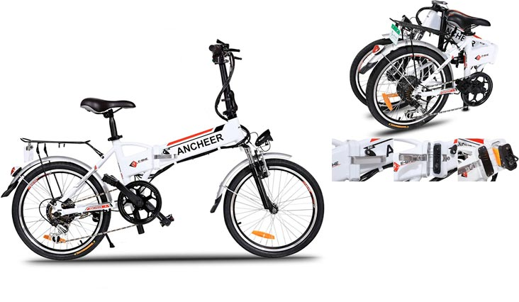 Power Plus Folding Electric Mountain Bike with Lithium-Ion Battery