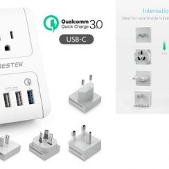 Top 10 Best Flexible Electrical Adapters for Traveler in Review 2018