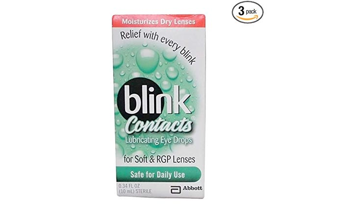 Blink Contacts Lubricant Eye Drops, 10 ml (Pack of 3)