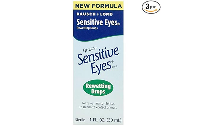 Bausch & Lomb Sensitive Eyes Rewetting Drops 1 oz (Pack of 3)