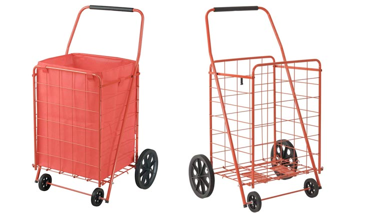 Folding Shopping Cart, 110 lbs Capacity