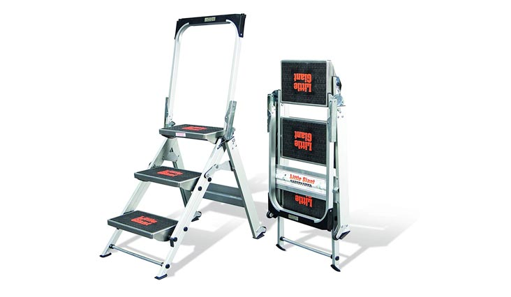3 step, Aluminum, 2-1/4 Feet, 300 lb. Capacity Stepladder