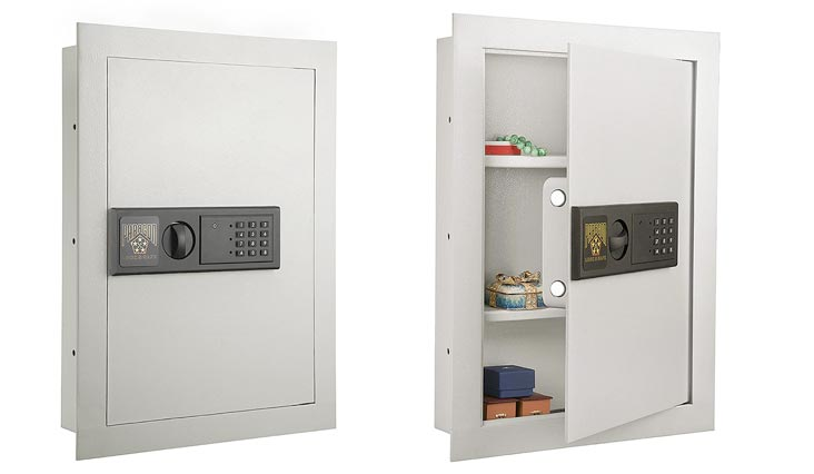 Paragon 7750 Electronic Wall Lock and Safe, .83 CF Hidden In Wall Large Safe