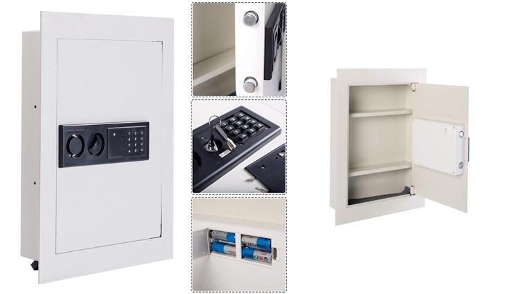 Giantex Electronic Wall Hidden Safe Security Box,.83 CF Built-In Wall Electronic Flat Security Safety Cabinet