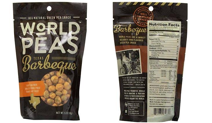 World Peas Green Peas, Texas BBQ, 5.3 Ounce