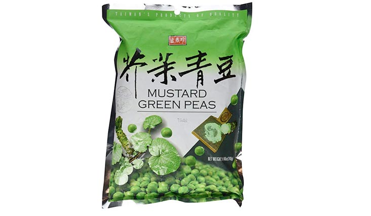 Taiwan Roasted Wasabi Hot Green Peas (30 Packets) - 8.46 Oz (240 g) - No Starch, No Wheat Flour