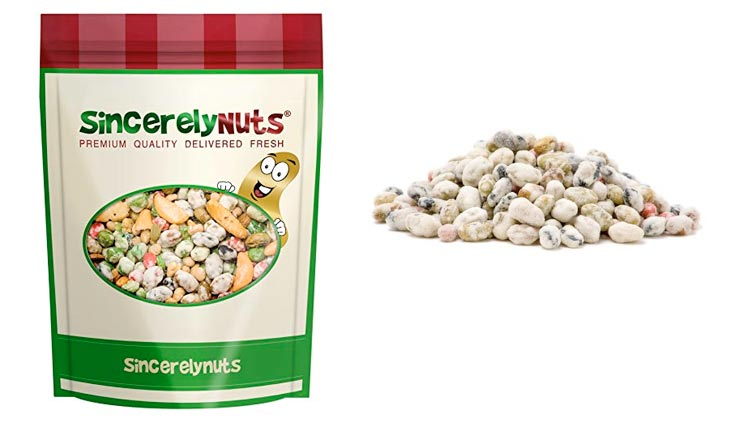 Sincerely Nuts Wasabi Bean Mix - One Lb. Bag - Spicy Flavor, Amazing Freshness - Highly Nutritious - Ready to Eat – Kosher Certified!