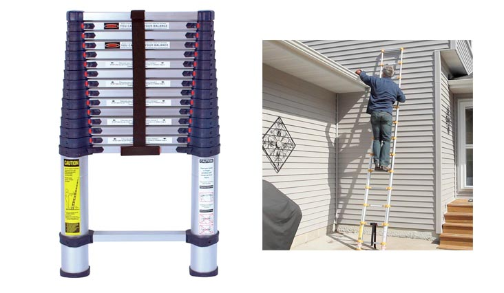 Aluminum Telescoping Ladder Type I Professional Series, 15.5-Foot