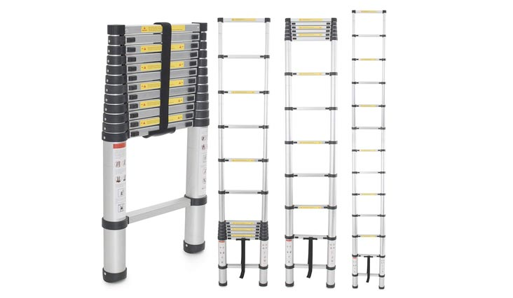 12.5Ft Aluminum Telescopic Tel escoping Ladder Extension