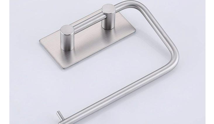 Self Adhesive Toilet Paper Holder Stainless Steel Tissue Paper Roll Towel Holder RUSTPROOF Brushed Finish
