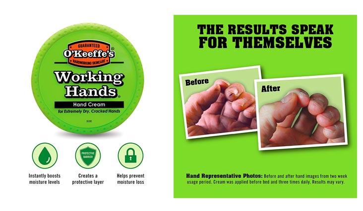 O'Keeffe's K0350002 Working Hands Hand Cream, 3.4 oz, Jar
