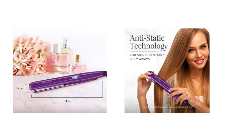 "Remington 1"" Flat Iron with Anti-Static Technology and Digital Controls, Purple, S5500"